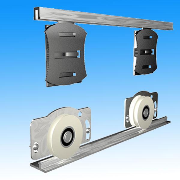 首页 产品中心 吊门滑轨 衣柜门滑轨 r80型侧装地轮(移门滑轮)