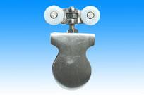 兴达麦奇1Q型四轮Ω型打孔玻璃门夹(吊轮滑轮)